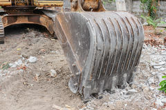 Excavator working destruction in Work outdoor construction Royalty Free Stock Photography