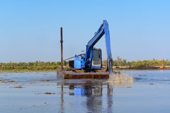 Free Excavator Working In The River Stock Photo - 49865680