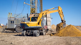 Excavator. Royalty Free Stock Image