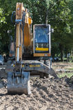 Excavator at a worksite Royalty Free Stock Photography