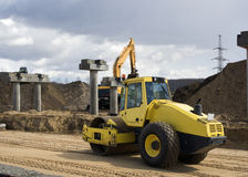 Excavator yellow Royalty Free Stock Image