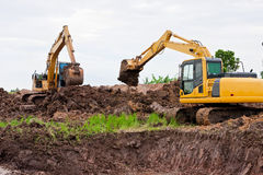 Excavators Royalty Free Stock Photos