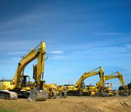 Excavators Royalty Free Stock Photo