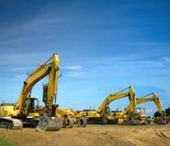 Excavators royalty free stock photo