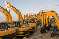 Excavators Stock Image