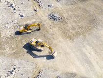 The Excavators. Stock Photos