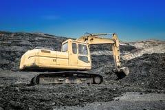 Excavators in coal mines Royalty Free Stock Images