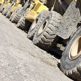 Excavators on construction site Royalty Free Stock Images