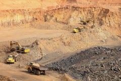 Open pit Manganese Mining stock photos
