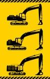 Excavators. Heavy construction machines. Vector Royalty Free Stock Photo