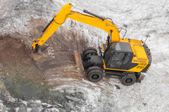 Excavators machine in construction site Royalty Free Stock Photography