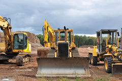 Excavators parked Royalty Free Stock Image