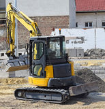 Excavators at the road construction Royalty Free Stock Photos
