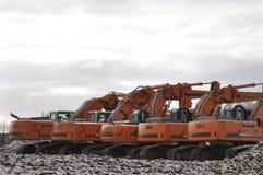 Excavators Stock Photo