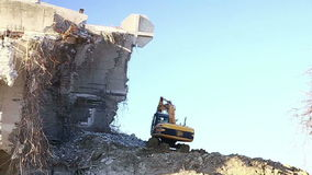 Excavators work stock video footage