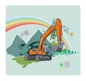 Excavatrice illustration libre de droits