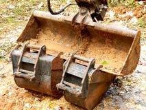 Excavatrice au repos Photographie stock libre de droits
