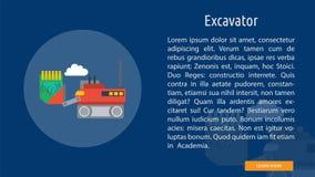 Excavatrice Banner Concept illustration stock