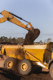 Excavatrice Bucket Earth de terrassements image stock