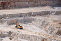 Excavatrice dans la mine à ciel ouvert Image libre de droits
