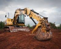 Excavatrice de Caterpillar Photos libres de droits