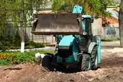 Excavatrice de chargeur de roue Photo libre de droits