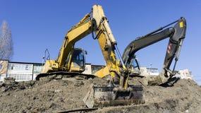 Excavatrice de construction Photos stock