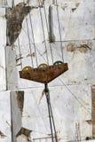Excavatrice et escalier de marbre Images libres de droits