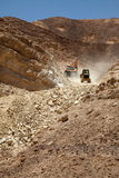 Excavatrice et tracteur Photo libre de droits
