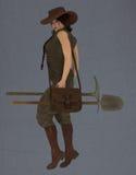 Excavatrice femelle Image libre de droits