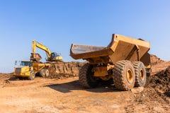 Excavatrice Grader Truck de terrassements photo stock