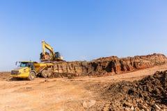 Excavatrice Grader Trucks de terrassements de construction image libre de droits