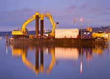 Excavatrice hydraulique Images stock