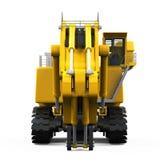 Excavatrice jaune d'isolement Images stock