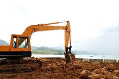 Excavatrice LoaderConstruction Excavato de construction Images libres de droits