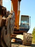 Excavatrice, machine mobile de la terre Image libre de droits