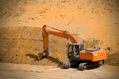 Excavatrice, pelle à pouvoir Photos stock