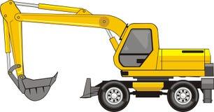 Excavatrice sur roues Images stock