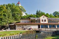 Excave el baño del balneario en Sklene Teplice, Eslovaquia Foto de archivo