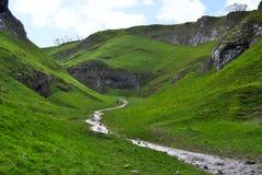 Excave el valle ocultado piedra caliza seca de Dale y fluya, distrito máximo Fotografía de archivo