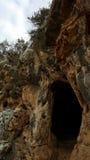 Excave en parque de naturaleza nacional cerca de Haifa, Israel Imágenes de archivo libres de regalías