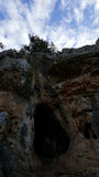 Excave en parque de naturaleza nacional cerca de Haifa, Israel Imagen de archivo libre de regalías