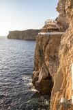 Excave en Xoroi, Menorca, España del ` de d foto de archivo