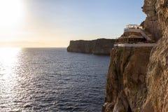 Excave en Xoroi, Menorca, España del ` de d fotos de archivo