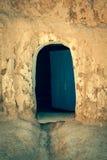 Excave la casa en el matmata, Túnez en el desierto del Sáhara imagenes de archivo
