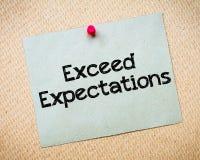 Exceda las expectativas Imagen de archivo
