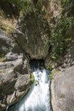 Excedido do rio subterrâneo no vale de Saklikent, Antalya, Turquia Foto de Stock