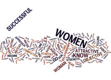 Exceed Your Limits With Women Text Background  Word Cloud Concept Stock Image