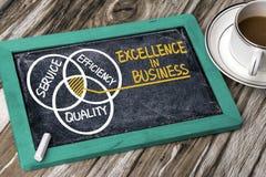 Excelência no desenho da mão do conceito do negócio no quadro-negro fotos de stock royalty free