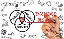 Excelência no desenho da mão do conceito do negócio no whiteboard imagem de stock